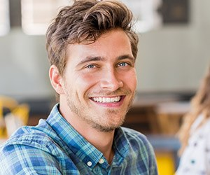 Man with attractive smile